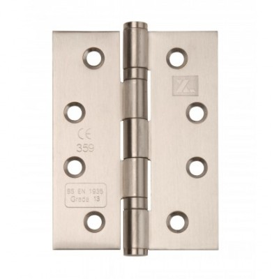Stainless Steel 4 x 3 Fire Rated Hinges (pair)